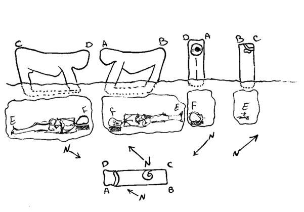 Figure. 21- L'emplacement des lions sur les tombes